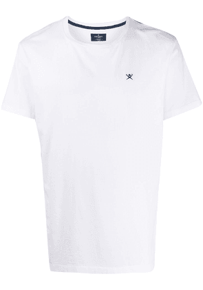 Hackett logo embroidered T-shirt - White