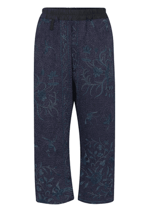 By Walid Gerald cropped trousers - Blue