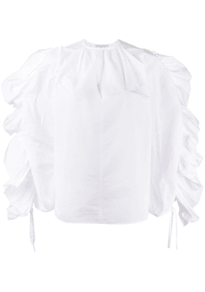 Givenchy accentuated sleeve blouse - White