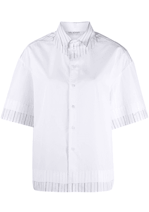 Neil Barrett oversized layered shirt - White