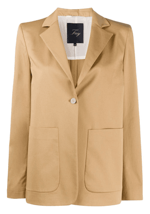 Fay single-breasted tailored blazer - Neutrals