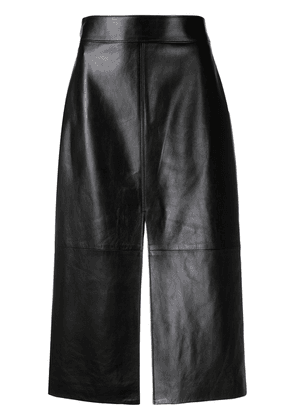 Givenchy slit leather skirt - Black