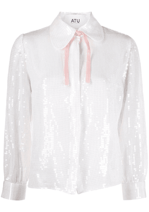 Atu Body Couture sequinned shirt - White