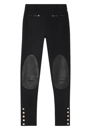 Burberry panelled skinny trousers - Black