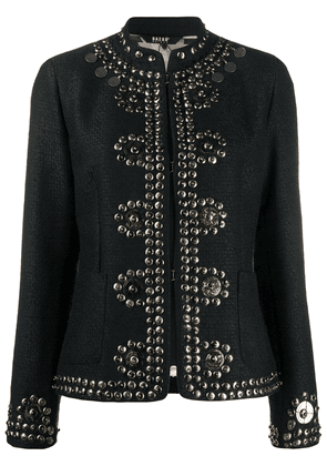 Bazar Deluxe studded mock-neck jacket - Black