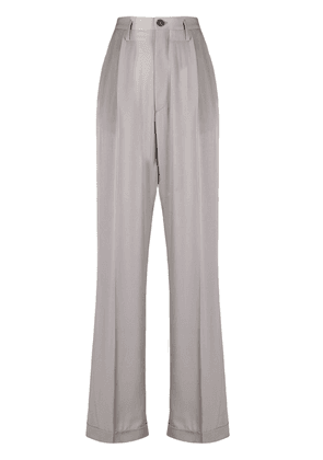 Maison Margiela high-waisted straight trousers - Grey