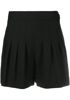 Saint Laurent pleated-detail shorts - Black