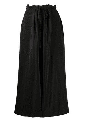 Daniela Gregis cropped wide-leg trousers - Black