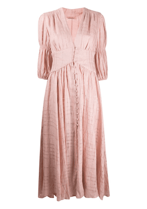 Cult Gaia Willow fitted smock dress - PINK