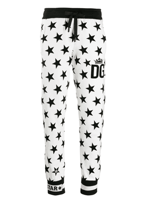 Dolce & Gabbana Millennials Star printed track pants - White