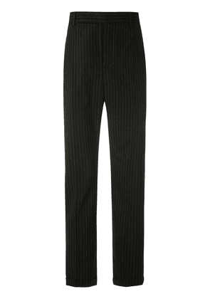 Saint Laurent pinstripes tailored trousers - Black