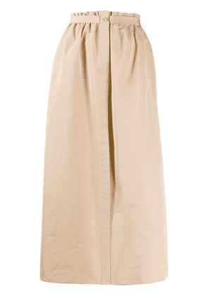 Givenchy split puffed skirt - NEUTRALS