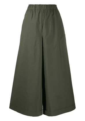 Daniela Gregis cropped wide-leg trousers - Green