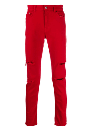Buscemi distressed slim-fit jeans - Red