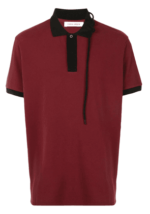 Craig Green lace collar polo shirt - Red