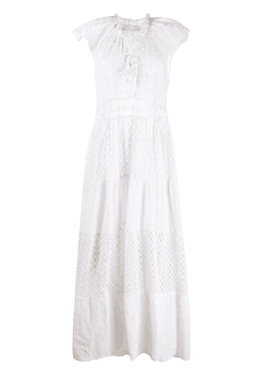 Anjuna crochet long beach dress - White