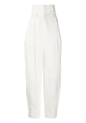 Givenchy high-waisted tapered trousers - White