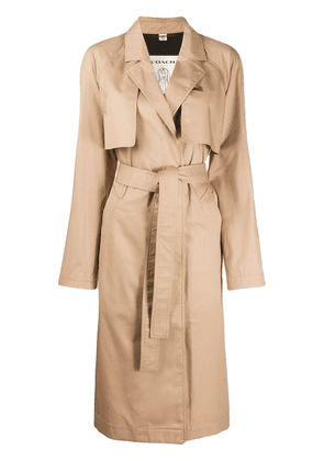 Coach minimal belted trench coat - NEUTRALS