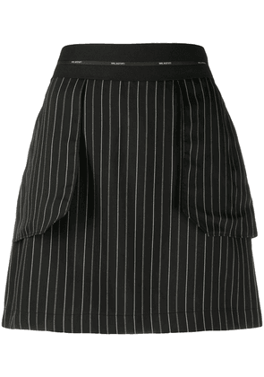 Neil Barrett striped mini skirt - Black