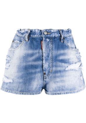 Dsquared2 embroidered rainbow shorts - Blue