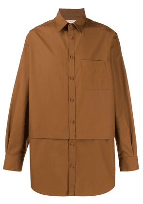 Valentino layer effect buttoned shirt - Brown