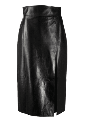 Gucci leather high-waisted pencil skirt - Black