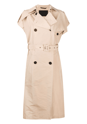Givenchy sleeveless double-breasted trench - NEUTRALS