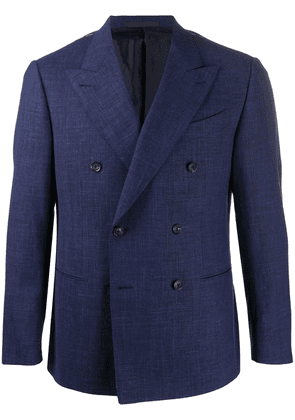 Caruso double-breasted fitted blazer - Blue