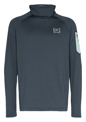 Burton AK grey Polartec Grid technical fleece - Blue