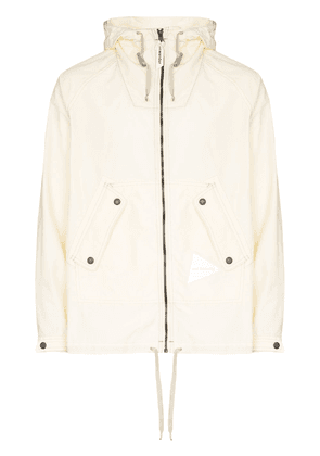 and Wander hooded sports jacket - White
