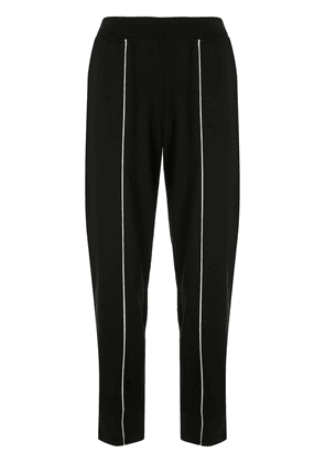Atm Anthony Thomas Melillo contrast piped-seam track pants - Black
