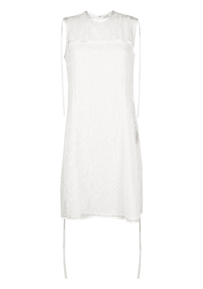 Loewe floral lace sleeveless top - NEUTRALS