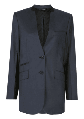 Givenchy collarless single-breasted blazer - Blue