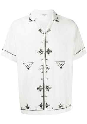 Saint Laurent embroidered tunic top - White
