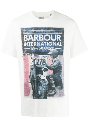 Barbour graphic print T-shirt - White