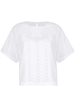 Levi's perforated lace T-shirt - White
