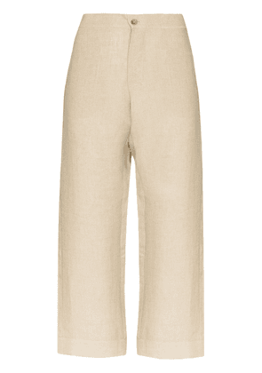 Asceno Antibes cropped wide-leg trousers - NEUTRALS
