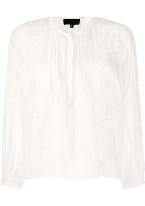 Nili Lotan embroidered blouse - White