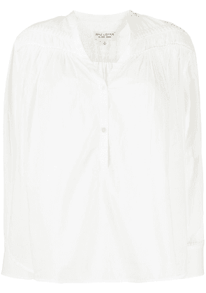 Nili Lotan button down gathered detail shirt - White