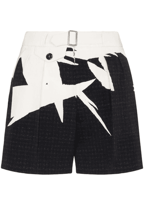 Maison Margiela graphic print tailored shorts - NEUTRALS