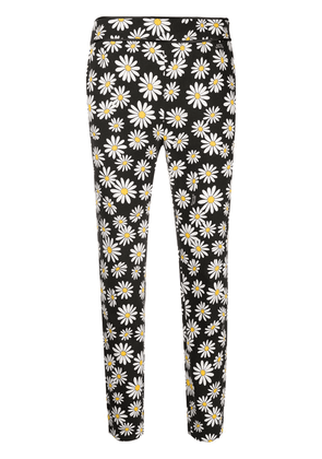 Boutique Moschino floral-print trousers - Black