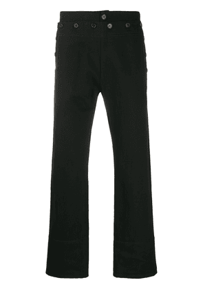 Ann Demeulemeester multi-button detail cropped trousers - Black