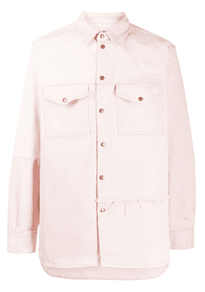 Acne Studios Recrafted denim overshirt - PINK