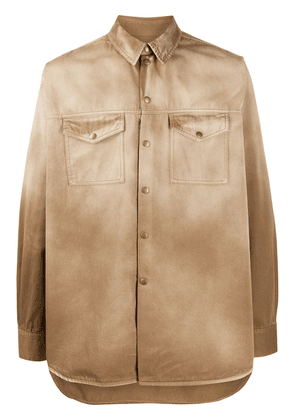 Acne Studios Recrafted denim overshirt - Brown