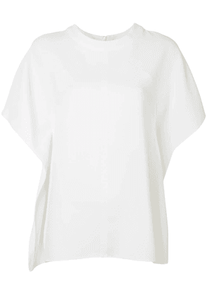 Cédric Charlier draped-side shift top - White