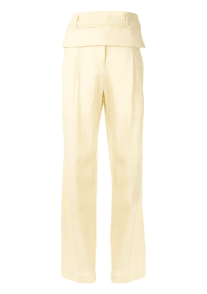 Christopher Esber double belted trousers - Yellow