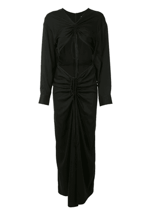 Christopher Esber ruched shirt dress - Black