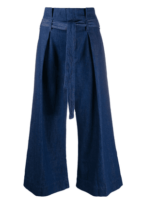 7 For All Mankind paperbag waist denim trousers - Blue