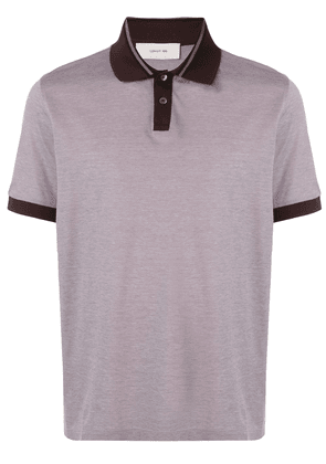 Cerruti 1881 contrast-trimmed polo shirt - Red
