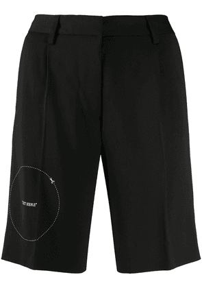 Off-White embroidered-detail tailored shorts - Black